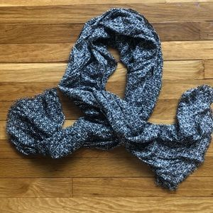 J.Crew Black and Gray Patterned Scarf